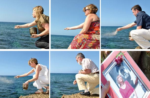 Lanzan al mar las cenizas de la amiga Bernie Dwyer